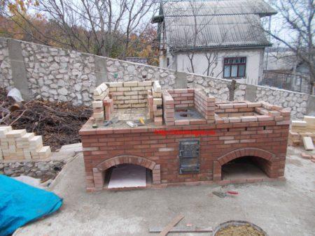 Кладка стен русской печи