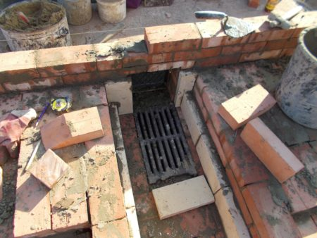 Формирование топливника дровянной плиты