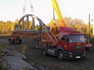 Доставка на строительную площадку готовой ж/б фермы