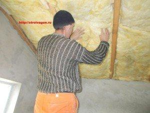 Теплоизоляция скатов крыши.