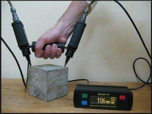 Определение марки контрольного образца из бетона