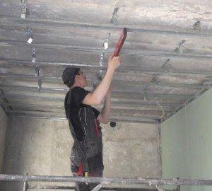 Потолок своими руками из гипсокартона