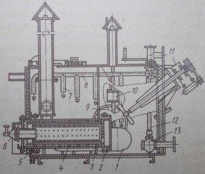 Схема агрегата для приготовления и нанесения гидроизоляции