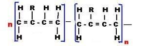 Реакция полимеризации каучука