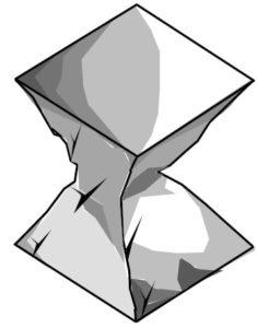 Образец куба после испытания на сжатие на гидравлическом прессе