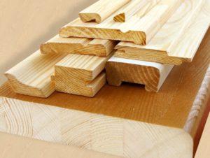 Несколько видов деревянных погонажных материалов
