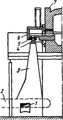 Схема производства стеклянной ваты дутьевым способом