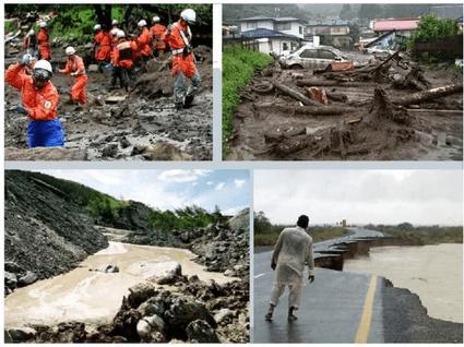 Разрушения населенных пунктов вызванные грязекаменными потоками