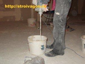 Приготовление плиточного раствора