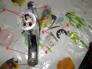 Конструкция смесителя с нижней стороны