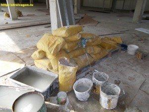 Мешки со штукатурной сухой смесью