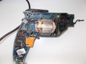 Процесс разборки статора электродвигателя