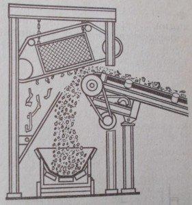 Схема удаления арматуры надконвейерным магнитным сепаратором