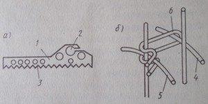 Металлический фиксатор арматуры: