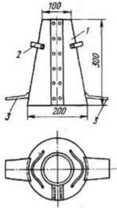 Стандартный конус для определения подвижности бетонной смеси