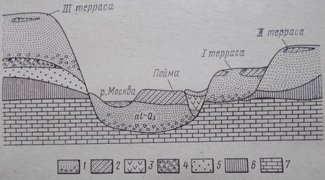 Схема геологического строения долины реки ( по Ф.В. Котлову)