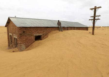 Наступление песков на города и населенные пункты