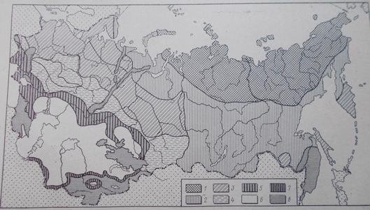 Схема провинций и зон грунтовых вод ( по О.К. Ланге)