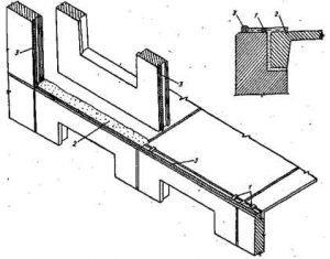 Выполнение горизонтального стыка панелей наружных стен