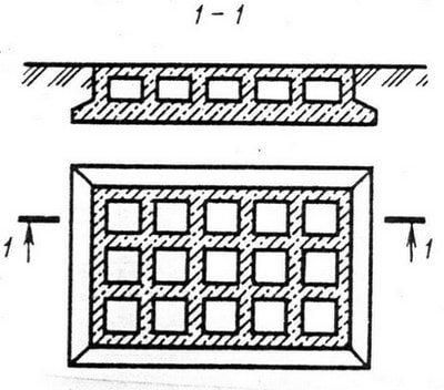 Сплошной фундамент коробчатого типа