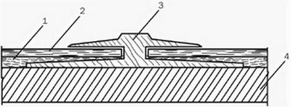 Соединение пластмассового порожка с линолеумом в дверном проеме