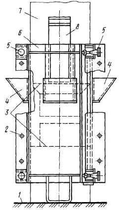Инвентарная опалубка для заделки стыков колонны