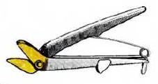 Ножницы для резки асбестоцементных листов и плиток