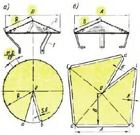 Заготовки зонтов