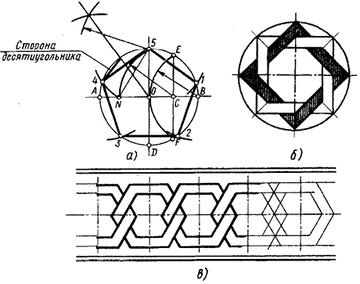 Построение правильного пятиугольника