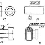 Нанесение на чертежах условных обозначений и надписей