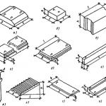 Элементы конструкций и их маркировка