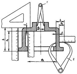 Определение размеров детали