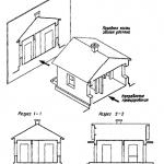 Образование поперечного и продольного разрезов здания