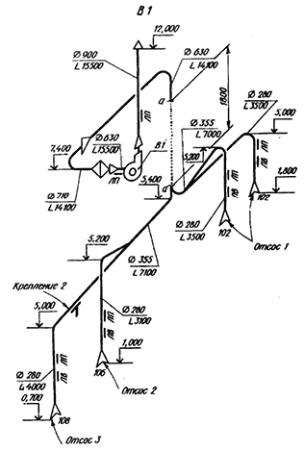 Аксонометрическая схема вытяжной вентиляции