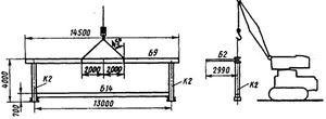 Схема строповки и монтажа отправочного элемента — блока станины