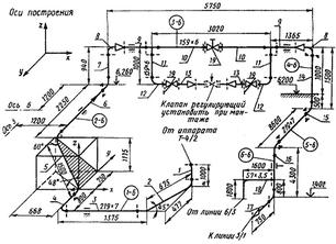 Аксонометрическая схема трубопровода